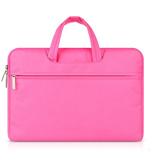 G7Explorer Water-resistant Laptop Sleeve Case Bag Portable Computer handbag For Apple Macbook Air and other Notebook 11.6 inches Pink