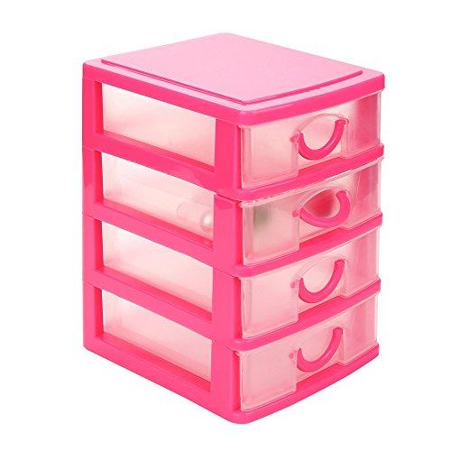 Berrose Haltbarer Kunststoff Mini-Desktop-Schublade Kleinigkeiten Fall Mehrschichtig Aufbewahrungskiste Kleine Schublade- Schichten Schublade Schreibtisch Organizer Container Jewelry Cosmetics