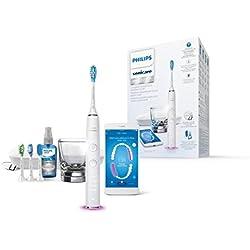 Philips Sonicare Diamond Clean Smart HX9924/03 - Cepillo de dientes con App y cabezales con sensores, incluye cabezal y spray lingual, color blanco