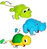1 Stück __ Aufziehtier / auch als Badewannenspielzeug - zum Aufziehen - im Wasser / Fußboden - aufziehen - für Badewanne / Badespielzeug - Wasserspielzeug Tie..