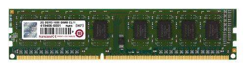 Transcend Arbeitsspeicher 2GB JM DDR3 1600Mhz U-DIMM 1Rx8 256Mx8 CL11 1.5V