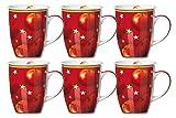 Weihnachten Kaffeebecher 6er Set 320ml Winterapfel - Flirt by R&B