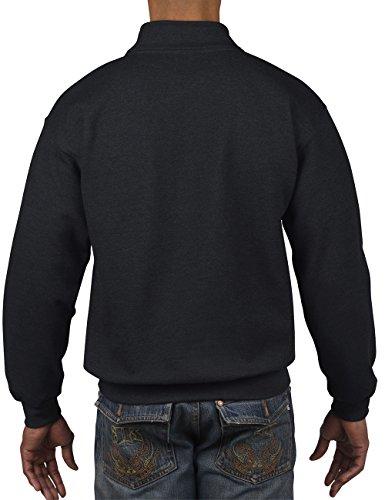 GILDAN Herren Adult Vintage 1/4 Zip Sweatshirt/18800 Schwarz (Black 36)
