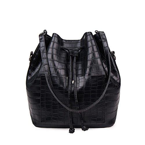 FZHLY 2017 Nuove Donne Catena In Pelle Spalla Del Messaggero Coreano Fashion Bag Benna,Red Black