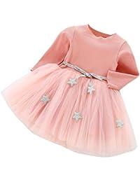 Vestidos Bebe Niña, K-youth® Recién Bebé Niñas Tutú princesa vestido Pentagram Bautizo Bebé Niñas Vestidos de Manga larga Otoño Invierno Ropa para 0-24 meses