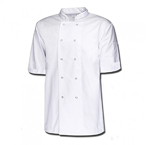 CHEFS JACKET, CLOTHING/APRONS, PRESS STUD BUTTONS,HALF SLEEVE, UNISEX, NEW INS07