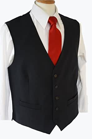 Busso Mens Waistcoat 38inch Chest, Black 1074D