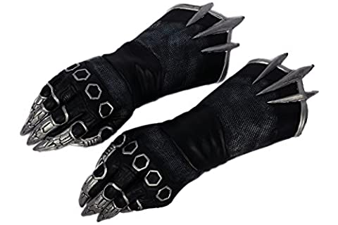Costume Civil War Black Panther - Déguisement Gants Noir Cosplay Costume Claw Gloves
