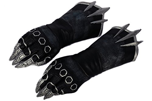 Black Cosplay Kostüm Claw Handschuhe Film Paws Latex Accessorsises Erwachsene Party Halloween Verrücktes Kleid 2016 (Handschuhe Black Panther)