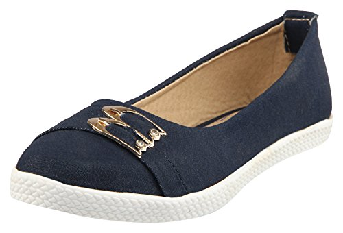 Women's Latest Blue Ballerinas - 5 UK By Perfect Shop