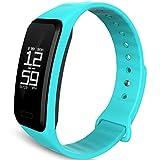 Smart Fitness Tracker Armband Herren Herzfrequenz Blutsauerstoff Schrittzähler Schlaf-Monitor Anrufen/SMS für Android iOS Smartphone