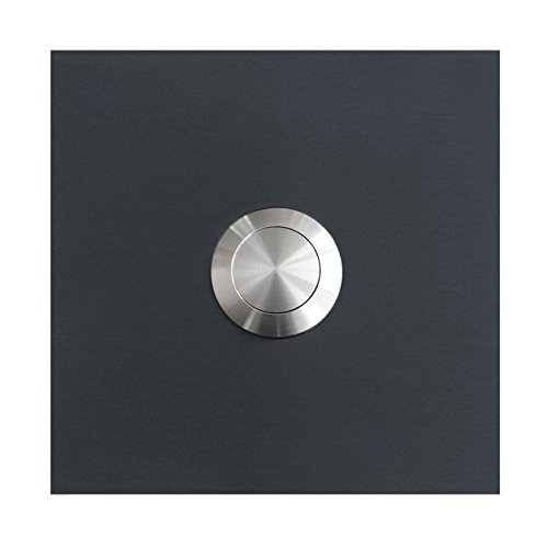 MOCAVI RING 110 Edelstahl-Design-Klingel anthrazit-grau matt RAL 7016 quadratisch, Klingeltaster