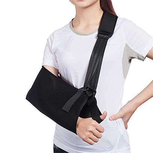 Arm Sling Schulter Immobilizer Brace- Medizinischer Sling Armorthese mit Daumenstütze zur Stabilisierung von gebrochenem Arm, AC-Gelenk,Hand- und Unterarmschlinge,L
