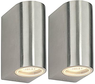 2 X Modern Double Outdoor Wall Light IP44 Up/Down Outdoor Wall Light ZLC023 - inexpensive UK light store.