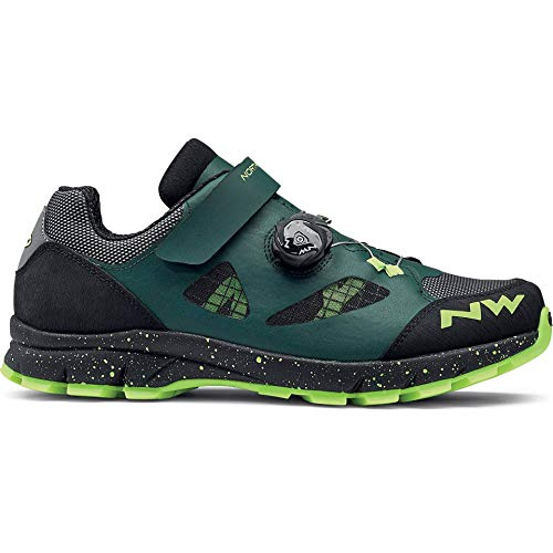 Zapatos de bicicleta de montaña NORTHWAVE TERREA PLUS verde / negro / amarillo, Tamaño:gr. 42