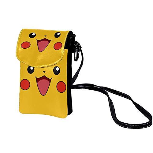Joli Papier Jaune Hochwertige Leder-Kartentasche Tragbare Geldbörse Leichte Umhängetasche Brieftasche für Frauen, Männer, Kinder