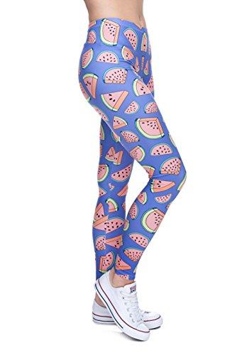 Fringoo - Legging de sport - Femme Multicolore Bigarré Taille Unique Watermelon