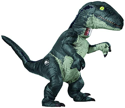 Jurassic World - Disfraz Hinchable de dinosaurio Velociraptor para dulto, Talla única (Rubie's 820883)