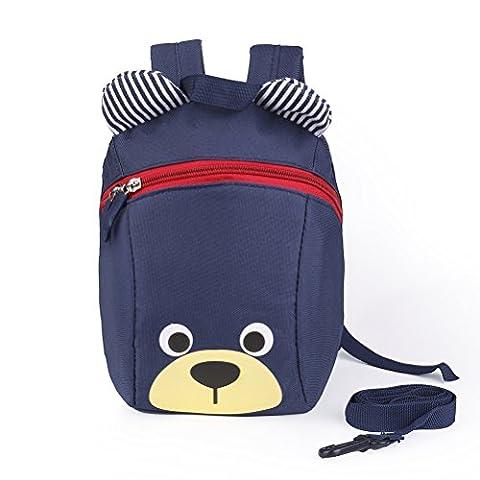 Baby Toddler Safety Harness Backpack - Hulegny Child Kids Strap Shoulder Backpack Bag with Reins Leash Rucksack Harness Walkers Tether Belt