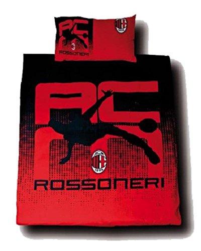 Ac Single (Set Bettbezug Und Kissenbezug Single AC Milan Fußballmannschaft * 15289)