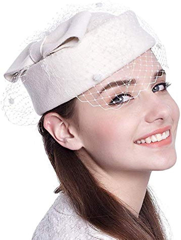 Berretto da Donna Berretto da Donna Donna da Cappello Pillbox Elegante  Cappello Facile da Abbinare da 44c80964d4ad