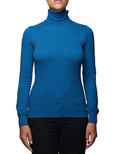 Dolcevita donna manica lunga Viscosa lana Microfibra antibatterica Maglieria collo alto Fashion Casual Sexy Maglieria Sensì Made in Italy - S/M-M/-L/XL Ottanio