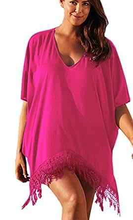 aiyue frauen strandkleid gro e gr en sommer blusen strandhemd damen oversize shirt bikini cover. Black Bedroom Furniture Sets. Home Design Ideas