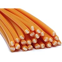 Alambre de soldadura de plástico PE-HD 4mm Redondo Naranja (RAL2000) HDPE 25 barra