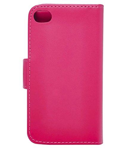iPhone 6 Plus / 6S Plus Hülle Leder Klapphülle mit Kartenfach GizzmoHeaven Schutzhülle Tasche Flip Case Cover Etui Handyhülle für Apple iPhone 6 Plus / 6S Plus mit Displayschutzfolie und Stylus-Stift  Hot Rosa