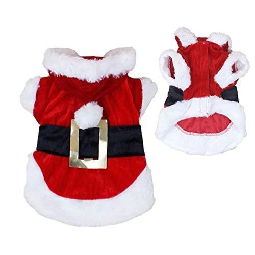 0d1eedcec2 Grivey Cappottino per Cani di Natale Vestito Super Morbido Bambola Costume  con Cappuccio Cani e Gatti