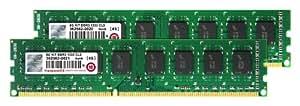 Transcend Arbeitsspeicher 8GB Dual Channel Kit 2x 4GB DDR3 1333MHz PC3-10667U CL9 DIMM (240-PIN, für Desktop-PCs)