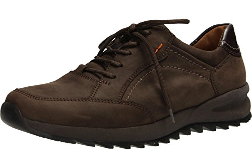 Waldlaufer Mens Helle 388001 Nubuck Shoes dbraun