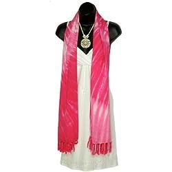 1WS para mujer cuello ancho de remolino de Tie Dye bufanda en su elección de colores