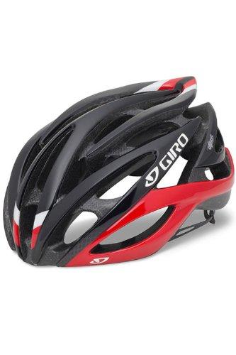 Giro Atmos Rennrad Fahrrad Helm schwarz/rot 2014: Größe: L (59-63cm)