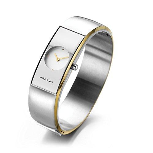 Jacob Jensen Damen Analog Quarz Uhr mit Edelstahl Armband 481