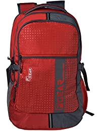 F Gear Blow Laptop Backpack 32 Liters (Red,Grey)