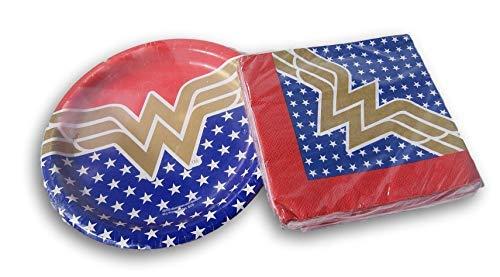 Wonder Woman Super Hero Party-Set - Teller und Servietten