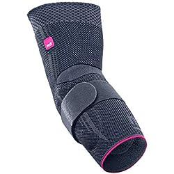 medi Epicomed - Ellenbogenbandage | silber | Größe II | Kompressionsbandage zur Stabilisierung des Gelenks bei Tennisarm oder Golferarm | Beidseitig tragbar