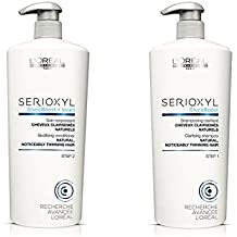 (Normal Hair) - Loreal SERIOXYL Hair Loss System Thickening Shampoo and Conditioner Salon Size