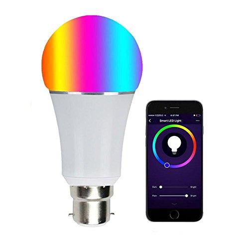 TEEPAO Wifi Birne Glühbirne Smart Lampe | LED Dimmbare Eyecare WALN Glühbirne, 7W-B22 RGBW Birne Funktioniert mit Amazon Alexa und Google Home, Fernbedienung von IOS & Android