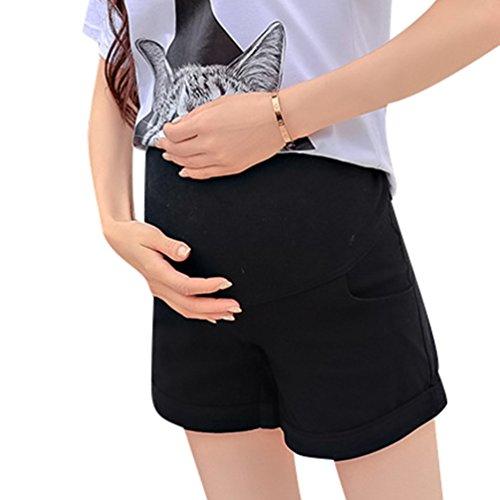 Lvguang donna pantaloncini corti pantaloni morbidi sicurezza maternità pantaloni intimo leggings (nero, asia m)