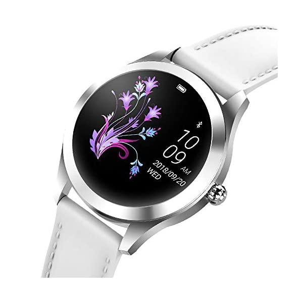 FBLWT Smartwatches Reloj Inteligente para Mujer Kw10 Color Ip68 Señoras Rastreador De Fitness Pantalla Táctil Redonda 5