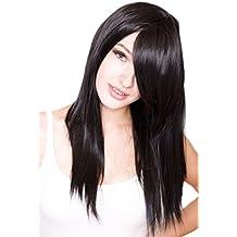 Cosplayland C994 - 60cm straight black Final Fantasy Rinoa Wig like real Hairs (peluca)