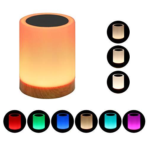(Touch Nachttischlampe, einstellbar in der Nacht, mit einem eingebauten Lithium-Batterie-Laden, 2800K-3100KWarm buntes Licht mit einstellbarer Helligkeit. ist das beste Geschenk für Kinder.)