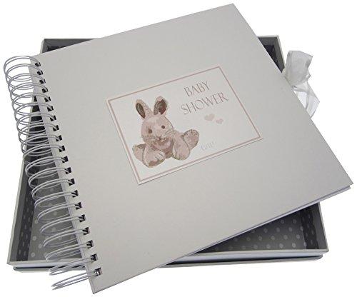 Baby Dusche, Karte & Speicher Buch, silber Bunny (Karten Für Baby-dusche)