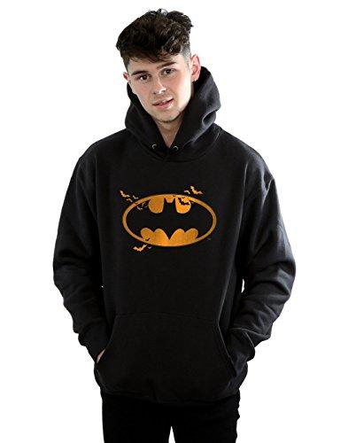 (DC Comics Herren Batman Halloween Logo Kapuzenpullover Medium Schwarz)