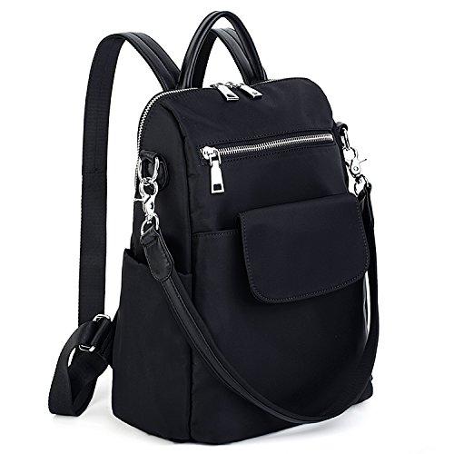 UTO Damen Backpack Purse 3 Wege Oxford wasserdicht Cloth Nylon Frau Rucksack Schultertasche