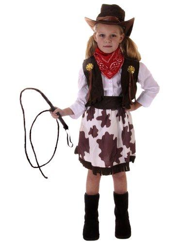 Cowgirl Kostüm + Mütze–Groß (Kostüm Cowgirl Indische)