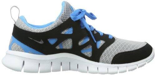 Nike Free Run 2 (Gs), 443742-021, Unisex - Kinder Laufschuhe Training Mehrfarbig (Wolf Grey/White-Black-Vivid Blue)