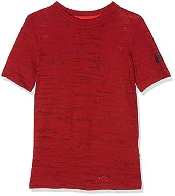 Adidas Boys' T-Shirt (AY8048_Vivid Red S13 and Utility Black F16_13-14 Years)